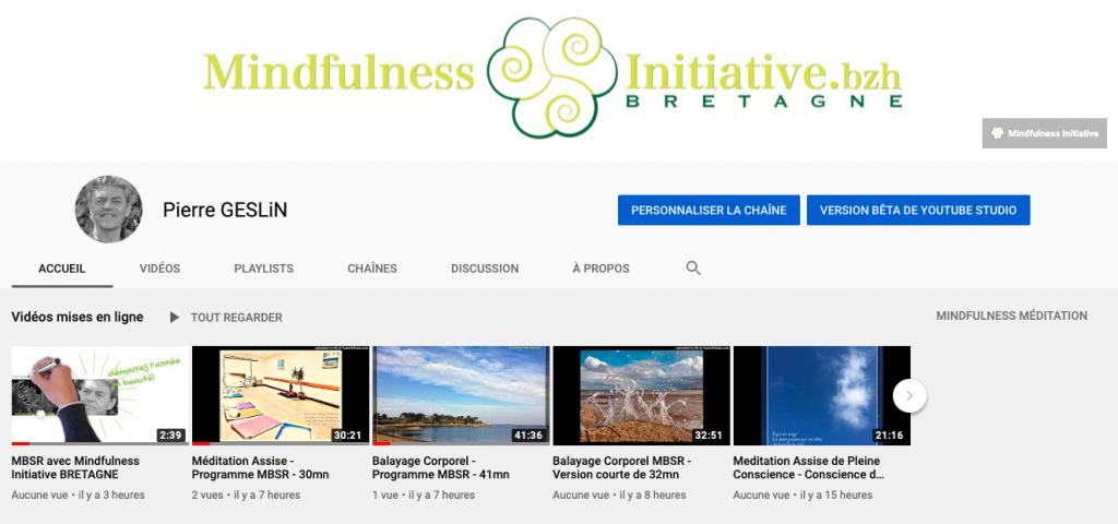 Mindfulness Initiative BRETAGNE à une toute nouvelle chaine Youtube avec des méditation guidées gratuites à écouter.